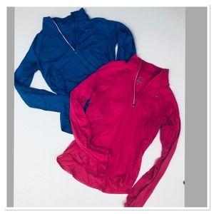 Nike Dri Fit half zip long sleeve top bundle